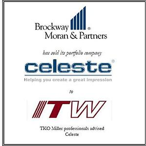 Brockway Moran & Partners has sold Celeste Industries