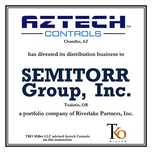Aztech Controls has divested its distribution business to Semitorr Group, Inc.