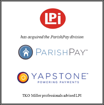 TKO Miller advises LPI on its acquisition of ParishPay